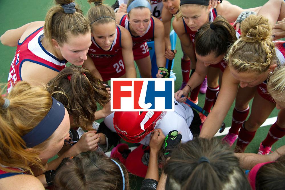 AUCKLAND - Sentinel Hockey World League final women<br /> Match id: 10309<br /> 19 USA v CHN (Losing Q/Finalists Match)<br /> Foto: Huddle USA.<br /> WORLDSPORTPICS COPYRIGHT FRANK UIJLENBROEK