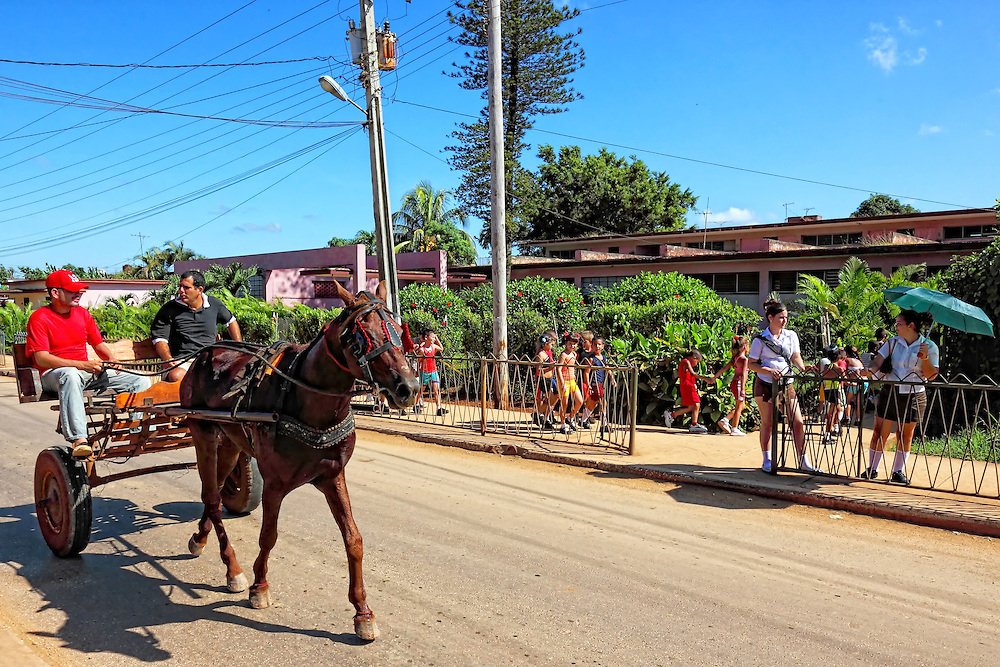 Horse and cart in Quivican, Mayabeque Province, Cuba.