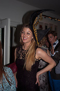 ANNA COLLETT, WEARING HATS BY KATHRYN ELIZABETH, London On A Plate - launch of new iPhone app.<br /> Morton's Club, 28 Berkeley Square,  London, 1 June 2011<br /> <br /> <br />  , -DO NOT ARCHIVE-© Copyright Photograph by Dafydd Jones. 248 Clapham Rd. London SW9 0PZ. Tel 0207 820 0771. www.dafjones.com.