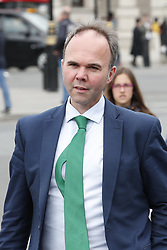 © Licensed to London News Pictures. 16/05/2019. London, UK. Gavin Barwell, Government Chief of Staff, arrives at Parliament as Prime Minister Theresa May meets with the backbench 1922 committe. Photo credit: Peter Macdiarmid/LNP