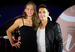 September 30, 2018 - Karolina Pliskova of the Czech Republic and husband Michal Hrdlicka on the red carpet at the 2018 China Open WTA Premier Mandatory tennis tournament players party (Credit Image: © AFP7 via ZUMA Wire)