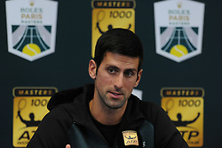 October 28, 2018 - France - Rolex Masters Paris 2018 - Novak Djokovic - Serbie (Credit Image: © Panoramic via ZUMA Press)