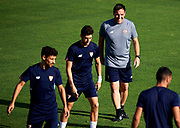 SEVILLE, SPAIN - AUGUST 21:  Head Coach of Sevilla FC Eduardo Berizzo looks on during the training session prior to their UEFA Champions League match against Istambul Basaksheir at the Sevilla FC training ground on August 21, 2017 in Seville, Spain.  (Photo by Aitor Alcalde Colomer/Getty Images)