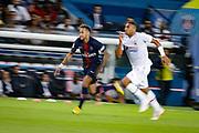PSG Neymar runs during the French championship L1 football match between Paris Saint-Germain (PSG) and Caen on August 12th, 2018 at Parc des Princes, Paris, France - Photo Geoffroy Van der Hasselt / ProSportsImages / DPPI