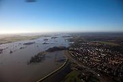 Nederland, Gelderland, Brummen, 20-01-2011; hoogwater IJssel, gezien naar het Zuiden .High water in the river IJssel, southwards..luchtfoto (toeslag), aerial photo (additional fee required).copyright foto/photo Siebe Swart