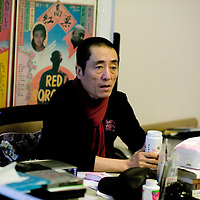 BEIJING, JANUARY 14, 2010: Film director Zhang Yimou in his office .