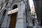 Turkije, Istanbul, 4-6-2011Kantoor van bankverzekeraar ing in de stad. Foto: Flip Franssen