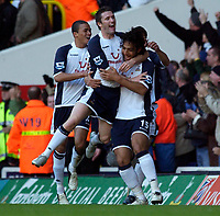 Photo: Daniel Hambury.<br />Tottenham Hotspur v West Ham Utd. The Barclays Premiership. 20/11/2005.<br />Spurs Mido celebrates scoring the first goal.