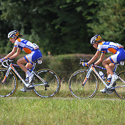 Boels Rental Ladies Tour Bunde-Valkenburg (6) Megan Gaunier, (2) Katarzyna Niewuadoma