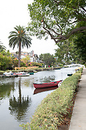 Photo print of the Venice Canals on a summer day, California wall art for your home. Los Angeles, Westside, Southern California landscape photography. Matted print, limited edition. Fine art photography print.