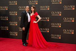 Marai Larasi and Ophelia Lovibond arriving for The Olivier Awards at the Royal Albert Hall in London.