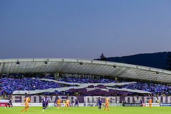 Supporters of NK Maribor, Viole during 2nd Leg football match between NK Maribor and Rangers FC in 3rd Qualifying Round of UEFA Europa League 2018/19, on August 16, 2018 in Stadion Ljudski vrt, Maribor, Slovenia. Photo by Urban Urbanc / Sportida
