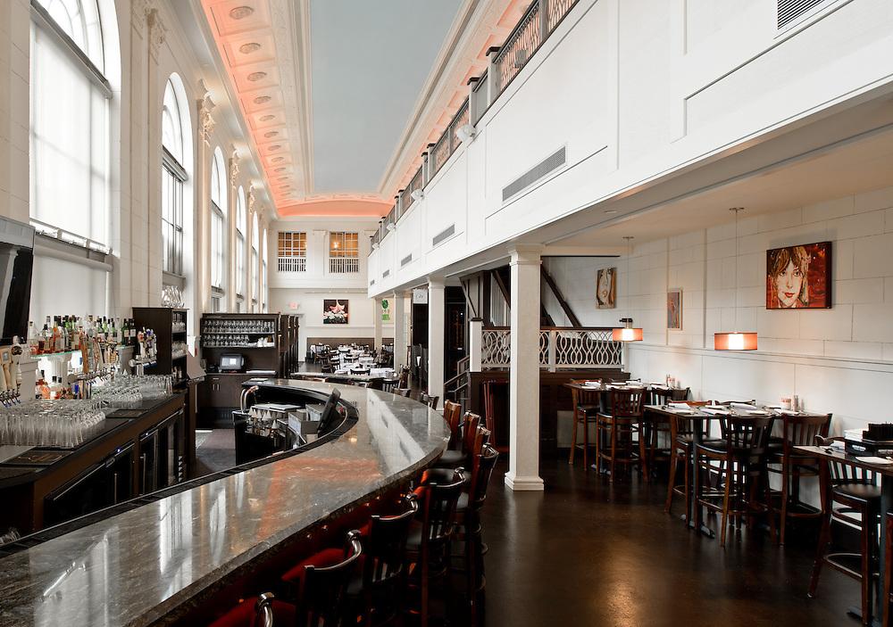 Nov. 8, 2012; Interior of Café Navarre, South Bend, IN, Architecture Design Group..Photo by Matt Cashore