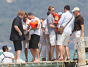 04.AUGUST.2011. ST TROPEZ<br /> <br /> ELTON JOHN AND DAVID FURNISH ARRIVE AT CLUB 55 IN SAINT-TROPEZ WITH THEIR BABY BOY, ZACHARY.  <br /> <br /> BYLINE: EDBIMAGEARCHIVE.COM<br /> <br /> *THIS IMAGE IS STRICTLY FOR UK NEWSPAPERS AND MAGAZINES ONLY*<br /> *FOR WORLD WIDE SALES AND WEB USE PLEASE CONTACT EDBIMAGEARCHIVE - 0208 954 5968*