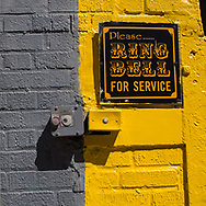 """""""Please Ring Bell for Service"""" on Washington street."""