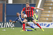 Chesterfield midfielder Reece Mitchell and Shrewsbury Town midfielder Bryn Morris battle it out during the EFL Sky Bet League 1 match between Chesterfield and Shrewsbury Town at the Proact Stadium, Chesterfield, England on 11 March 2017. Photo by Aaron  Lupton.