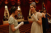 Sarah Courtauld and Magdalen Asquith. The St. Petersburg Ball, In aid of the Children's Fire and Burn Trust-Russia 2005.  The Cafe Royal. 3 February 2006. -DO NOT ARCHIVE-© Copyright Photograph by Dafydd Jones 66 Stockwell Park Rd. London SW9 0DA Tel 020 7733 0108 www.dafjones.com