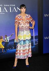 Jackie Cruz at the Los Angeles premiere of 'La La Land' held at the Mann Village Theatre in Westwood, USA on December 6, 2016.