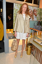 OLIVIA INGE at the launch of the new J&M Davidson flagship shop at 104 Mount Street, London on 3rd February 2016.