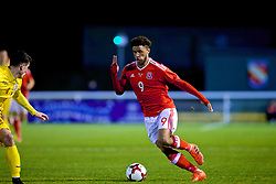 BANGOR, WALES - Tuesday, November 14, 2017: Wales' Tyler Roberts during the UEFA Under-21 European Championship Qualifying Group 8 match between Wales and Romania at the Nantporth Stadium. (Pic by Paul Greenwood/Propaganda)