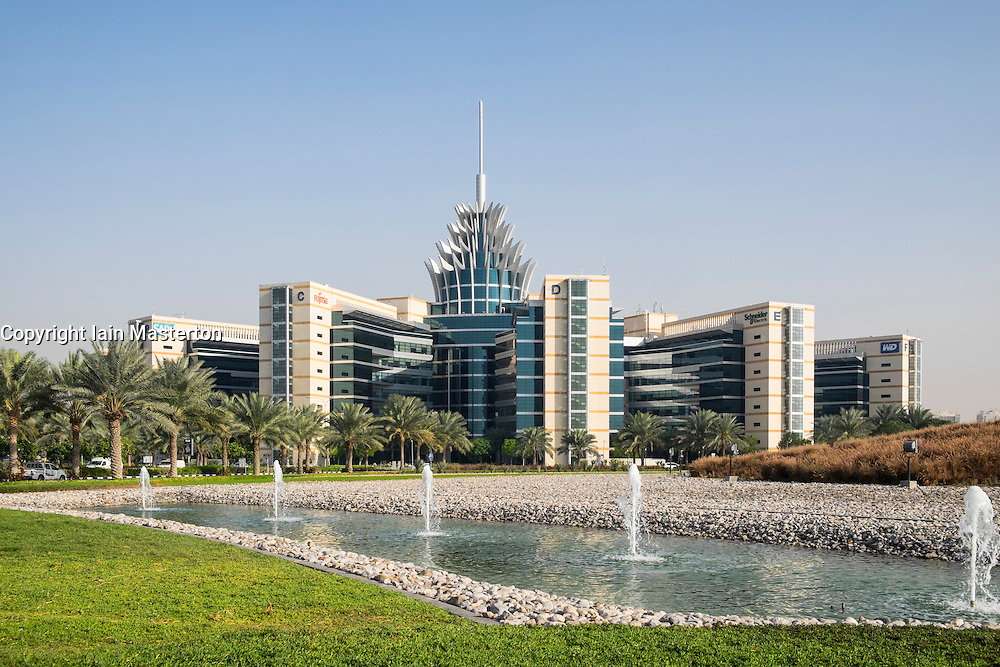 Pineapple building at Silicon Oasis Business Park in Dubai united Arab Emirates