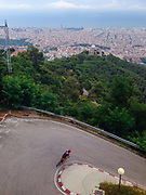 Descending to Barcelona from Tibidabo