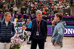 STEVENS Mario (GER), BEERBAUM Ludger (GER), MCMAHON Eoin (IRL)<br /> Leipzig - Partner Pferd 2020<br /> Impression am Rande - Parcoursbesichtigung<br /> Longines FEI Jumping World Cup™ presented by Sparkasse<br /> Sparkassen Cup - Großer Preis von Leipzig FEI Jumping World Cup™ Wertungsprüfung <br /> Springprüfung mit Stechen, international<br /> Höhe: 1.55 m<br /> 19. Januar 2020<br /> © www.sportfotos-lafrentz.de/Stefan Lafrentz