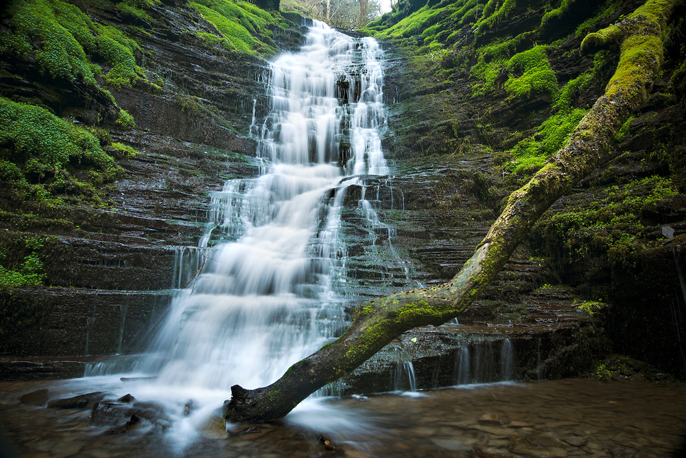 Water-break-its-neck waterfall in Radnor Forest, Wales