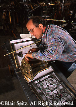 Peter A. Renzetti, Master Blacksmith, Iron works, Dilworthtown Forge, Chester Co., PA