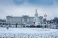 Buckingham Palace snow - Image by Christopher Holt of London England UK