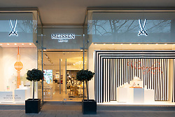 Exterior of Meissen shop on Unter den Linden street in Mitte Berlin, Germany