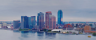 New York City, New York,  East RIver, Long Island City, Queens, Dawn, Sunrise, panorama
