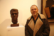 ARTHUR COLLINGS BUST  AND HIS SON MATTHEW COLLINGS. 'Art is Why I get up in the morning' Unseen pieces from Elizabeth Frink's studio and work by four contemporary British artists: Lin Jammet, amanda Cornish, Kitty Blandy and Olivia Lomench gill. Ryder St. gallery. London. 28 March 2006. ONE TIME USE ONLY - DO NOT ARCHIVE  © Copyright Photograph by Dafydd Jones 66 Stockwell Park Rd. London SW9 0DA Tel 020 7733 0108 www.dafjones.com