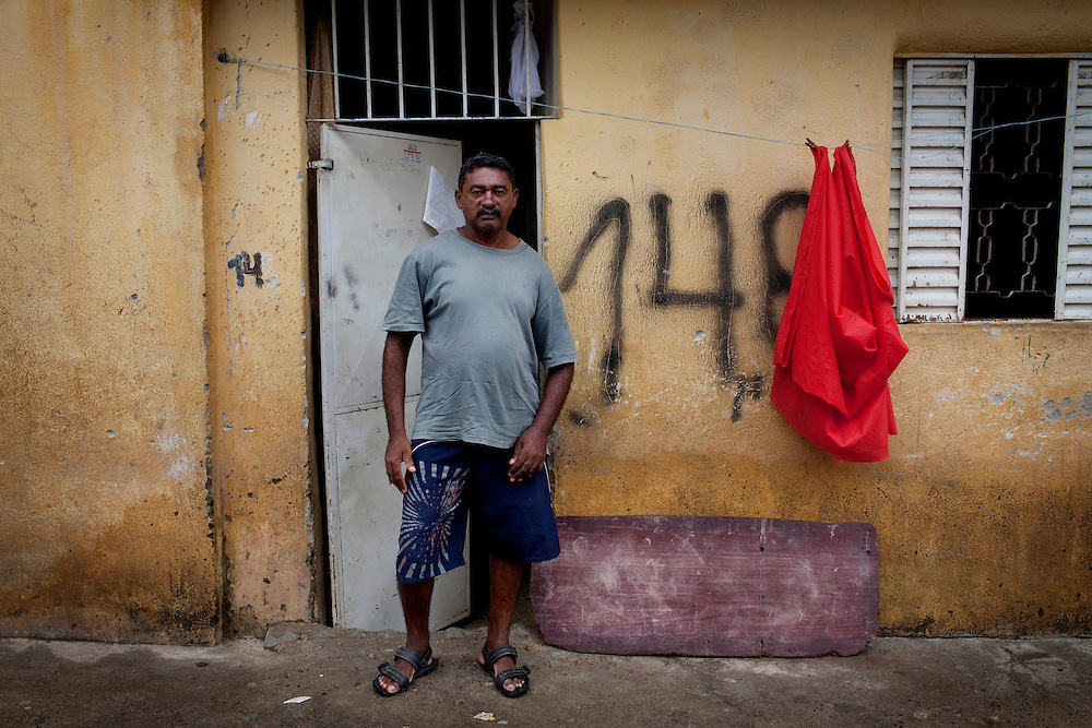 CASE. Apolio, 44. Apolio had a mayor stroke 6 years ago. He has learned to walk again and regularily takes part in exercise classes run by the local health UBS (helath post). Favela São Rafael, Guarulhos, Brazil.
