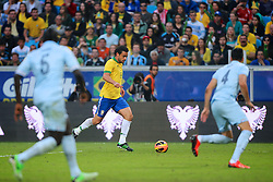 Fred em lance do amistoso entre Brasil e França no estádio Arena do Grêmio, em Porto Alegre (RS). FOTO: Jefferson Bernardes/Preview.com