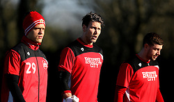 Fabian Giefer of Bristol City walks out to training with new teammates Ivan Lucic and Frank Fielding - Mandatory by-line: Robbie Stephenson/JMP - 19/01/2017 - FOOTBALL - Bristol City Training Ground - Bristol, England - Bristol City Training
