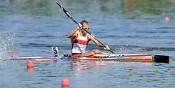MAX HOFF (GERMANY) COMPETES IN MEN'S K1 1000 METERS FINAL A RACE DURING 2010 ICF KAYAK SPRINT WORLD CHAMPIONSHIPS ON MALTA LAKE IN POZNAN, POLAND...POLAND , POZNAN , AUGUST 21, 2010..( PHOTO BY ADAM NURKIEWICZ / MEDIASPORT ).