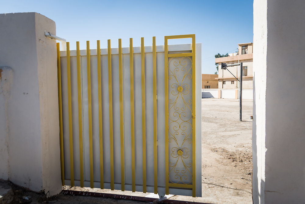 11 October 2017 &ndash; Ninewa Plains &ndash; A new gate at th entrance to Al-Taghllubia School for Boys in the Ninewa Plains.<br /> <br /> UNDP&rsquo;s Funding Facility for Stabilization is helping rehabilitate the school, which suffered damage during ISIL occupation and the battle to retake the town. After being closed for 3 years it reopened its doors to students on October 10, 2017. 