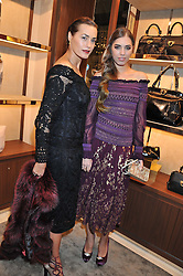 Left to right, YASMIN LE BON and AMBER LE BON at the Salvatore Ferragamo Old Bond Street Boutique Store Launch on 5th December 2012.