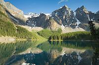Moraine Lake and Wenkchemna Peaks, Banff National Park Alberta Canada
