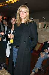 AMY SACCO owner of the famous Bungalow 8 club in New York at a party hosted by Daniella Helayel of fashion label ISSA held at Taman Gang, 141 Park Lane, London on 15th February 2006.<br /><br />NON EXCLUSIVE - WORLD RIGHTS