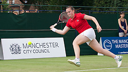 MANCHESTER, ENGLAND: Chloe Murphy (GBR) on Day 4 of the Manchester Masters Tennis Tournament at the Northern Tennis Club. (Pic by David Tickle/Propaganda)