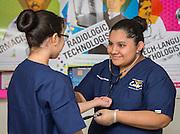 Students practice nursing techniques at the Jones Futures Academy, November 21, 2014.