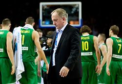 Bozidar Maljkovic, coach of Slovenia after the basketball game between National basketball teams of Slovenia and Lithuania at of FIBA Europe Eurobasket Lithuania 2011, on September 15, 2011, in Arena Zalgirio, Kaunas, Lithuania. Lithuania defeated Slovenia 80-77.  (Photo by Vid Ponikvar / Sportida)