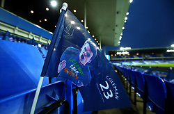 Flags are left out on seats at Goodison Park to show support for Seamus Coleman of Everton after his return from a serious leg break injury - Mandatory by-line: Robbie Stephenson/JMP - 31/01/2018 - FOOTBALL - Goodison Park - Liverpool, England - Everton v Leicester City - Premier League