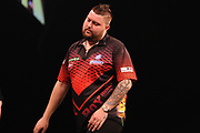 Michael Smith, 2013 World Youth Champion. Second Premier League seasonduring the Unibet Premier League Darts Night 13 competition at the Manchester Arena, Manchester, United Kingdom on 26 April 2018. Picture by Mark Pollitt.