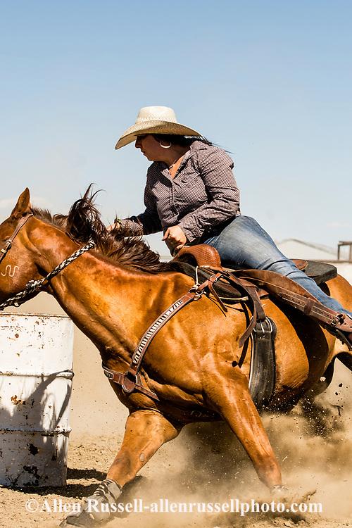 Cowgirl, Barrel Racing, Ingomar, Montana, annual rodeo