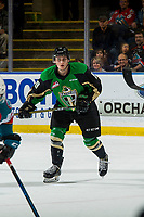 KELOWNA, BC - JANUARY 19:  Ozzy Wiesblatt #19 of the Prince Albert Raiders skates against the Kelowna Rockets at Prospera Place on January 19, 2019 in Kelowna, Canada. (Photo by Marissa Baecker/Getty Images)***Local Caption***