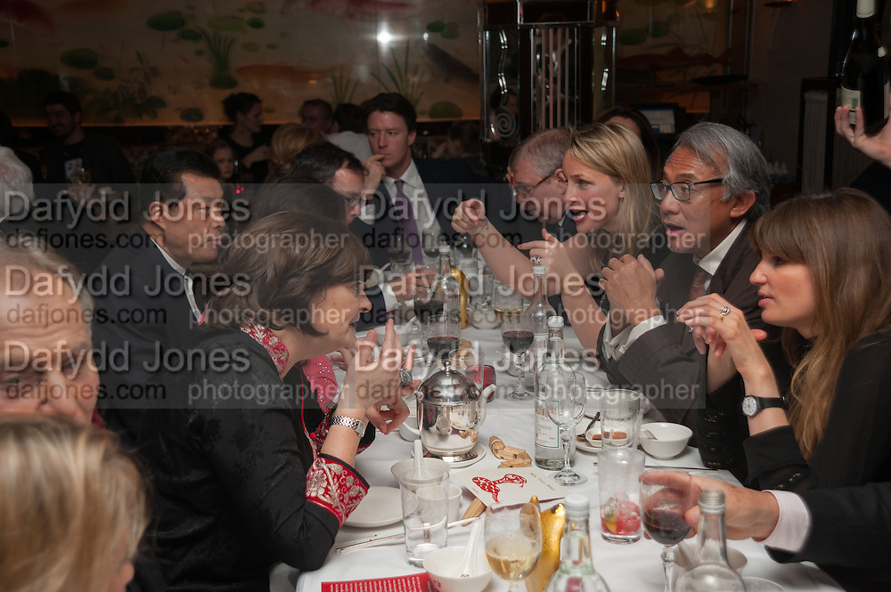 CHERIE BLAIR; CHINESE AMBASSADOR; ; PRINCE ANDREW; MRS. HOWARD BARCLAY; SIR DAVID TANG; JEMIMA KHAN, Chinese New Year dinner given by Sir David Tang. China Tang. Park Lane. London. 4 February 2013.