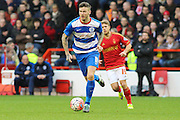 Queens Park Rangers midfielder Ben Gladwin looks for a pass during The FA Cup third round match between Nottingham Forest and Queens Park Rangers at the City Ground, Nottingham, England on 9 January 2016. Photo by Aaron Lupton.